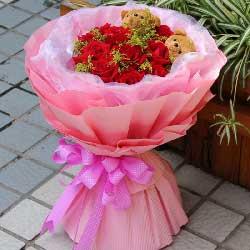 幸福甜蜜飞扬/11支红色玫瑰