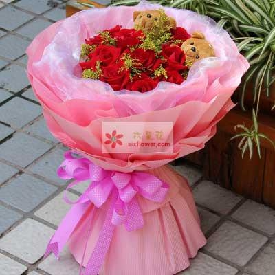 幸福甜蜜飞扬/11枝红色玫瑰