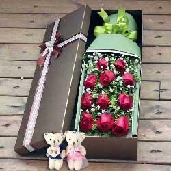 爱的光芒/11支玫瑰礼盒