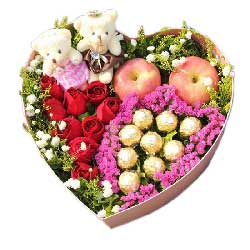 9支红玫瑰巧克力,苹果礼盒,爱你永不变