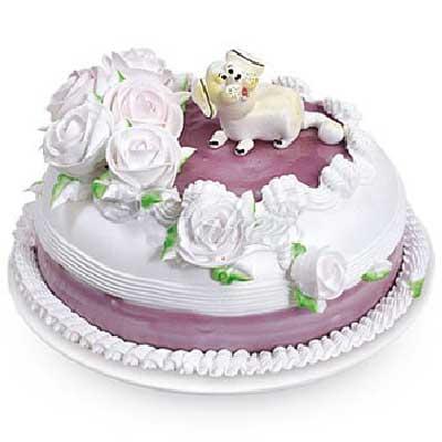 最亮丽的色彩/8寸鲜奶蛋糕