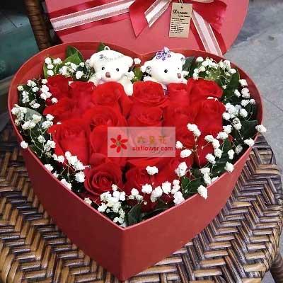 你就是我爱的人/19枝玫瑰礼盒