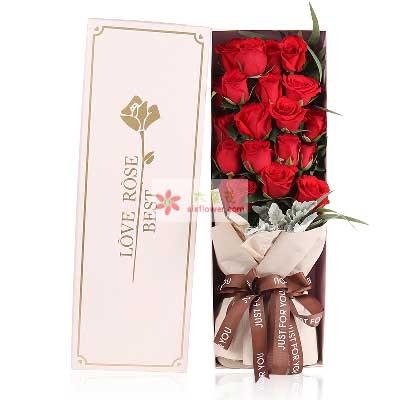 相依相伴/19支红玫瑰礼盒