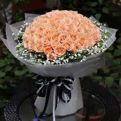 一生的幸福/99枝香槟玫瑰