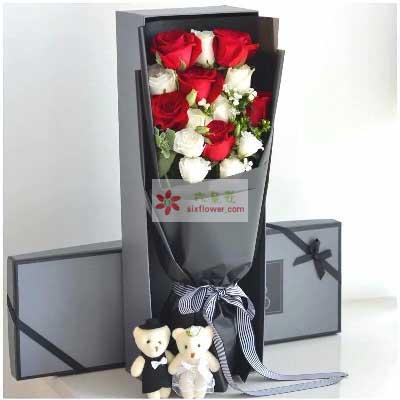 有你人生更加精彩/11支玫瑰礼盒
