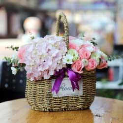 心情好/19枝玫瑰康乃馨绣球花