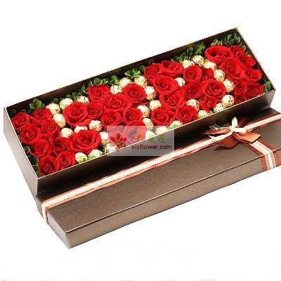 共同寻找幸福快乐/39枝玫瑰巧克力礼盒