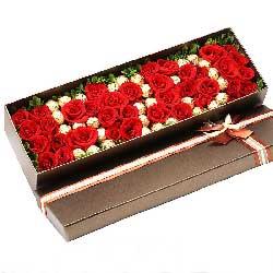 共同寻找幸福快乐/39支玫瑰巧克力礼盒