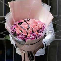 你是我今生最美的思念/30支粉玫瑰