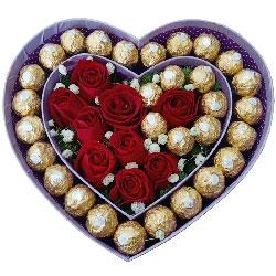 无限思念/30颗巧克力玫瑰