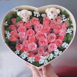 每天爱你多一些/33枝戴安娜玫瑰礼盒