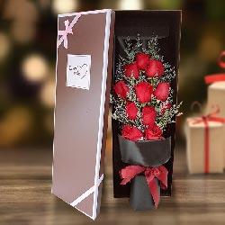 与你共同演绎爱情/11枝红玫瑰礼盒
