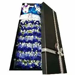 笑得甜蜜蜜/39支蓝色玫瑰礼盒