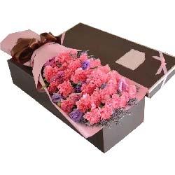 花儿捎去我的情/26枝粉色康乃馨礼盒