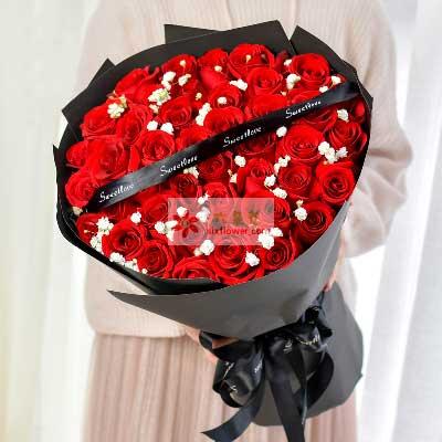 幸福无人能及/33支红色玫瑰