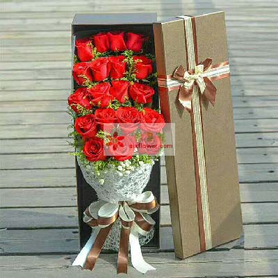 让你更快乐美丽/19支玫瑰礼盒