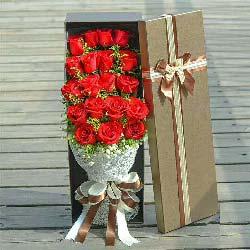 让你更快乐美丽/19枝玫瑰礼盒