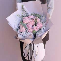 一生的牵挂/11支粉玫瑰