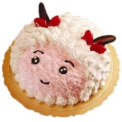 祝福你/8寸美羊羊形状鲜奶蛋糕