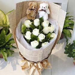 12支白玫瑰/无边的爱