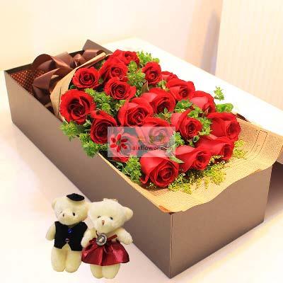 20支红玫瑰礼盒/心相印手相牵