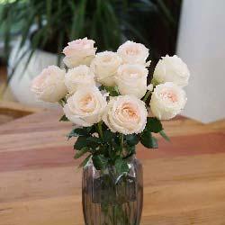梦里梦外都是你/11枝香槟玫瑰瓶插花