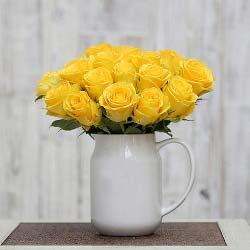 30枝黄玫瑰/珍惜