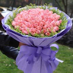 99支戴安娜粉玫瑰/我想拥你入怀抱
