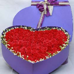 99枝红玫瑰礼盒/携手共度人生