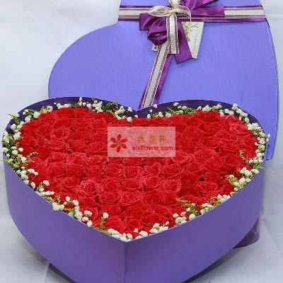 99支红玫瑰礼盒/携手共度人生