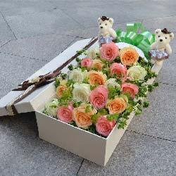 19枝玫瑰礼盒/永远保护你