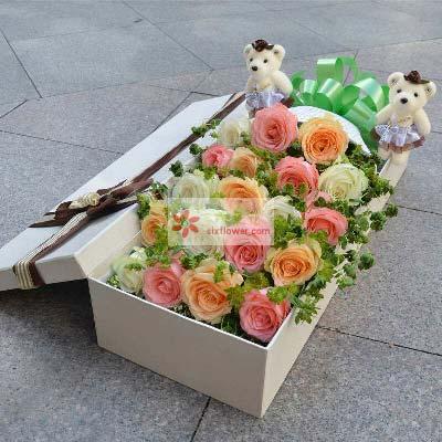 19支玫瑰礼盒/永远保护你