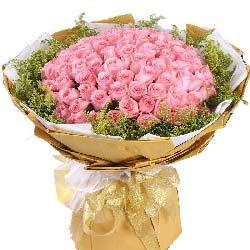 99支戴安娜粉玫瑰/真的爱你