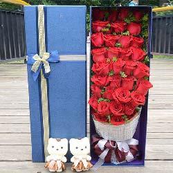 33枝红玫瑰礼盒/你是我今生最美的风景