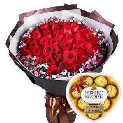 33支红玫瑰+巧克力/对你一生的爱