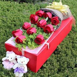 11支红玫瑰礼盒/一生幸福