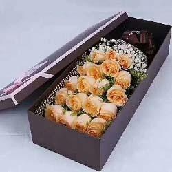 17支香槟玫瑰/你在我的心中是最美