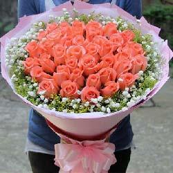 25朵粉玫瑰,幸福的爱