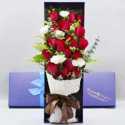 19朵红玫瑰礼盒,我要走进你的心里