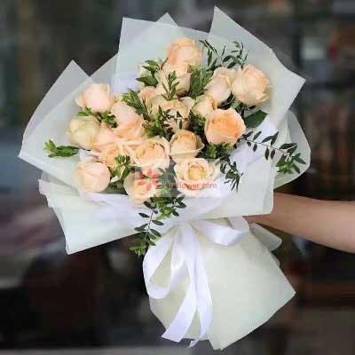 19朵香槟玫瑰,爱情永远长生