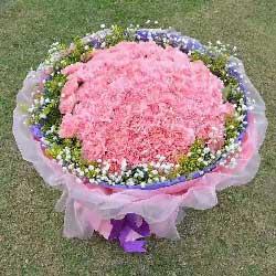 99朵粉色康乃馨,感谢您的爱