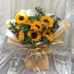 8朵向日葵,送去温暖问候