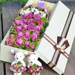 19朵紫玫瑰,爱很真很深