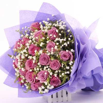 18朵紫玫瑰,你是我的一切