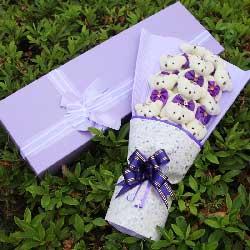 11只紫色小熊,梦里心里始终有你