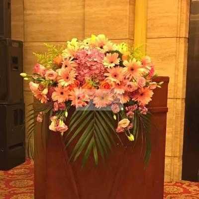 讲台用花,主席台用花