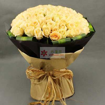 99朵香槟玫瑰,爱情是多么甜蜜