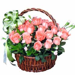 22朵粉玫瑰,爱你永远