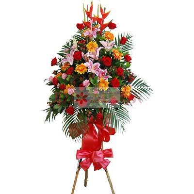 8朵粉色百合,18朵红玫瑰,恭喜…