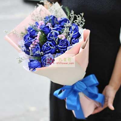 16朵蓝玫瑰,我会给你一辈子的幸福